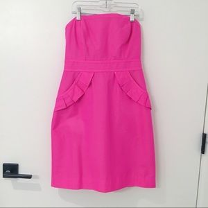 Hot Pink J. Crew Strapless Dress